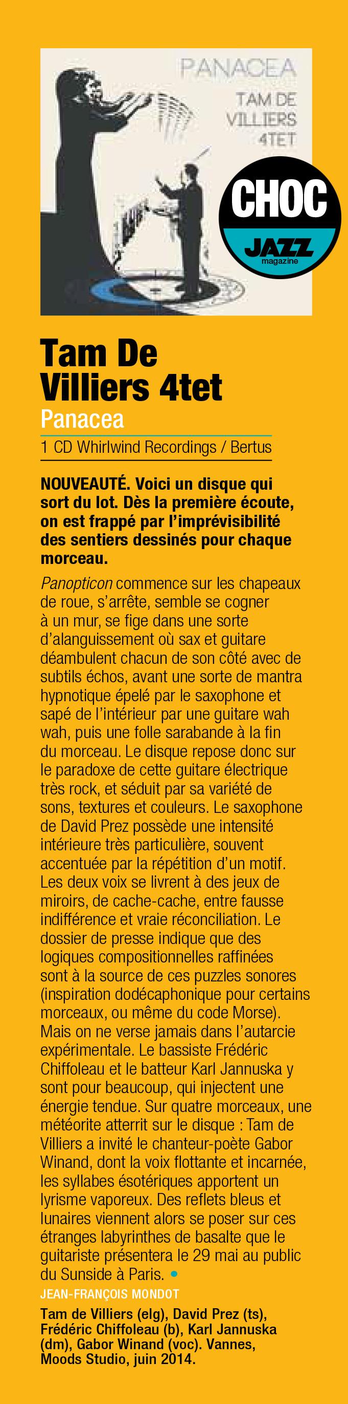 CHOC-Jazzmagazine-Panacea-Tam-de-Villiers-4tet web